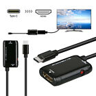 USB-C Type-C to HDMI HDTV Adapter Cable For Iphone Samsung Pc Laptop Tablet