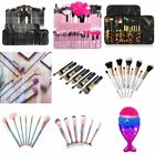 Zodaca 6/10/12/24pcs Makeup Brushes Set Foundation Eyebrow P