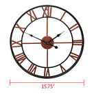 Large Outdoor Garden Wall Clock Antique Big Roman Numeral Round Giant Open Face
