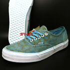 VANS AUTHENTIC + OVERWASH PAISLEY TURQUOISE MENS SKATE SHOES S89165123
