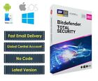 Bitdefender Total Security 2020 - 10 PC (Central Account - eDelivery) - No Code