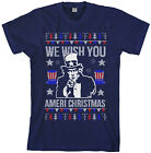 We Wish You Ameri Christmas Men's T-Shirt Holiday Uncle Sam