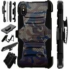 Lux-Guard For iPhone 6/7/8 PLUS/X/XR/XS Max Phone Case CAMO MESH BROWN
