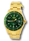 Invicta Pro Diver Master Of The Oceans SWISS MADE Green Stainless Watch 25812