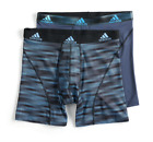 2 Pairs - adidas Men's Climalite Performance Boxer Briefs si