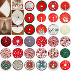 90cm Plush Christmas Tree Skirt Stands Apron Wedding Xmas Party Home Room Decor