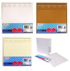 "Pack 8 Blank Cards & Envelopes Decorative Edge Cardmaking Craft 15cm 6"" Square"