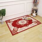 European Style Home Floor Carpet Floral Printed Area Soft Rug Bedroom Anti-skid