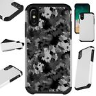 FusionGuard For iPhone 6/7/8 PLUS/X/XR/XS Max Phone Case ARTISTIC CAMO GRAY