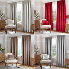 Catherine Lansfield Thermal Leaf Jacquard Woven Pencil Pleat Lined Curtains