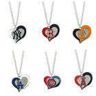 Brand New MLB Pick Your Teams Fashion Jewelry Swirl Heart Charm Pendant Necklace on Ebay
