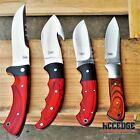 """BUCKSHOT 8"""" FIXED BLADE HUNTING FISHING CAMPING Red Wooden Handle SURVIVAL Knife"""