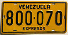 🌟🌎⚜🐦⚜🌎🌟 AUTHENTIC SOUTH AMERICA VENEZUELA LICENSE PLATE. EXPRESOS (EXPRESS)