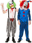 Boys Evil Scary Clown Costume Childs Halloween Circus Fancy Dress Kids Outfit