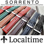 Localtime 'Sorrento' Premium Calf Leather Watch Strap 18-28mm 7 Colours & X-Long