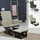 2PC Baby Nursery Relax Rocker Rocking Chair Glider & Ottoman Sofa Set