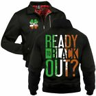 Gefütterte Harrington Jacke Ready to Blackout Irland irische St.Patricks Day