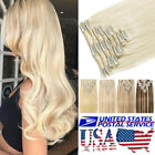 """8""""-24"""" 100% Real Remy Full Head Clip In Human Hair Extensions Highlight US T720"""