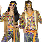 Psychedelic Hippie Adults Fancy Dress Peace Groovy 70s 60s Hippy Costume Outfits