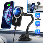 Magnetic Car Dashboard Wireless Charger Mount Holder Stand For iPhone Samsung US