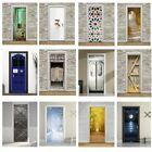 2pcs 3D Door Wall Mural Wallpaper Sticker PVC Removable Decal for Home Decor