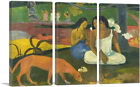 ARTCANVAS Joyfulness - Arearea 1892 Canvas Art Print by Paul Gauguin