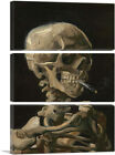Skull of a Skeleton with Burning Cigarette Canvas Art Print Vincent Van Gogh