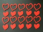 30 Felt Heart Die Cuts Party Invitations Cards Favours Table Topper Kids