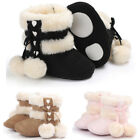 Kids Baby Girls Soft Booties Winter Warm Snow Boots Bowknot Sole Shoes 0-18M KI