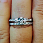 .925 Sterling Silver Wedding Set CZ Ladies Engagement Ring Size 3-10 Bridal New