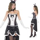 Western Burlesque Costume Bunny Outfit Can Showgirl Ladies Fancy Dress Playboy