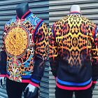Men's Multicolor Animal Print Fitted Track Fashion Jacket