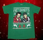 New Home Alone Wet Bandits Christmas Ugly Sweater Vintage Mens T-Shirt