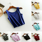 Women Sleeveless T-Shirt Tank Short Cami Vest Crop Top Blouse Beach Summer Gym