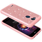 For LG X Power 3 Glitter Case Shock Proof Hybrid Layers Bumper Slim Case Cover