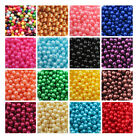 ACRYLIC FAUX PEARL BEADS  6mm - 8mm *21 COLOURS* BEADING WEDDING CRAFTS