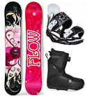 2019 FLOW Tula 144 Women's Snowboard+Head Bindings+Flow BOA Boots 4 YR WARRANTY