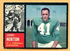 1962 Topps Football #146B Jerry Norton (VG-EX) -- St Louis Cardinels