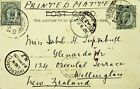 INDIA 1905 2 VALUES PPC FROM OOTY/COONOOR TO NW ZEALAND