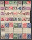AUSTRALIA 1942 - 1960 (35) Gutter Pairs All MNH Folded Once Scarce Assembly