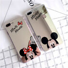 Mirror Phone Case Cute Cartoon Disney Mickey Minnie Mouse Soft Cover For iPhoneX