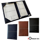Golf Scorecard Holder Leather Yardage Book Cover Sunfish With 2 Pcs Score