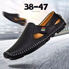 Big Size 46 47 Men Slip on Leather Loafers Casual Lazy Driving Moccasins Shoes