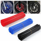 Hot 72X Wheel Spoke Wraps Motorcycle Cover Pipe Skins For Kawasaki Suzuki New