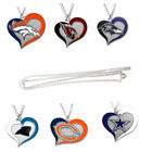 swirl heart necklace charm NFL PICK YOUR TEAM $7.99 USD on eBay