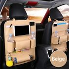 Leather Car Seat Back Organiser Tablet Holder Protector Bottle Toy Mat Storage