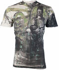 AFFLICTION Mens T-Shirt SERPENT EMPEROR Royalty Series SKULL Biker UFC Vtg $78 image