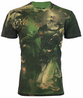 AFFLICTION Mens T-Shirt CONQUEROR Royalty Series SKULL Biker UFC Jeans VTG $78 image