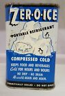 VINTAGE ADVERTISING ZER-O-ICE PORTABLE REFRIGERANT 1 QUART RECTANGULAR TIN Z-301