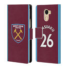 WEST HAM UNITED FC 2017/18 HOME KIT 2 LEATHER BOOK CASE FOR WILEYFOX & ESSENTIAL